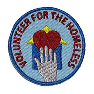 Volunteer for the Homeless Service Patch from Youth Squad