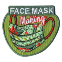 Girl Scout Face Mask Making Fun Patch