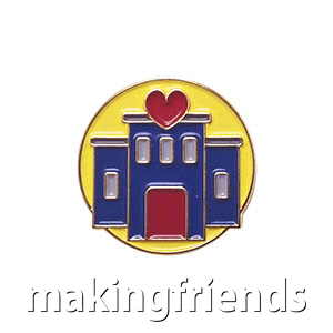 """The Enrichment Delegate Pin is from the Youth Squad Community Patch Program®. MakingFriends®.com partnered with Youth Squad to bring you a rewarding community service program with step-by-step instructions for every age level to make a meaningful impact in their community. This is one of our """"Delegate"""" level pins. The requirements for our Delegate level provide teens with valuable life experience and a completed project to include on a resume or college application. via @gsleader411"""