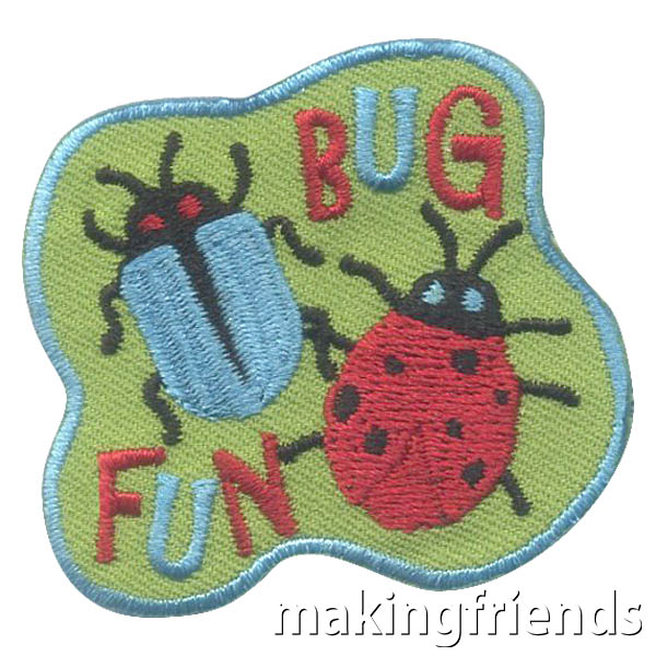 Learn about bugs while having fun. The world is full of so many varieties so pick your favorite bugs to learn about. #makingfriends #mf #badges #patches #bugs #bugpatch #bugfun via @gsleader411