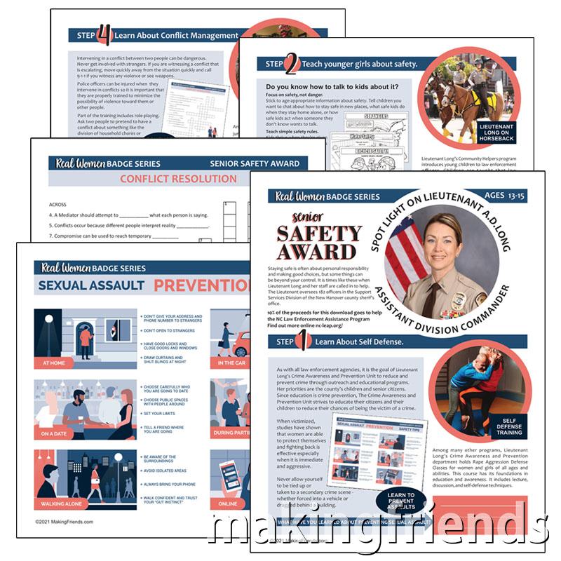 Girl Scout Safety Award for Seniors Download via @gsleader411