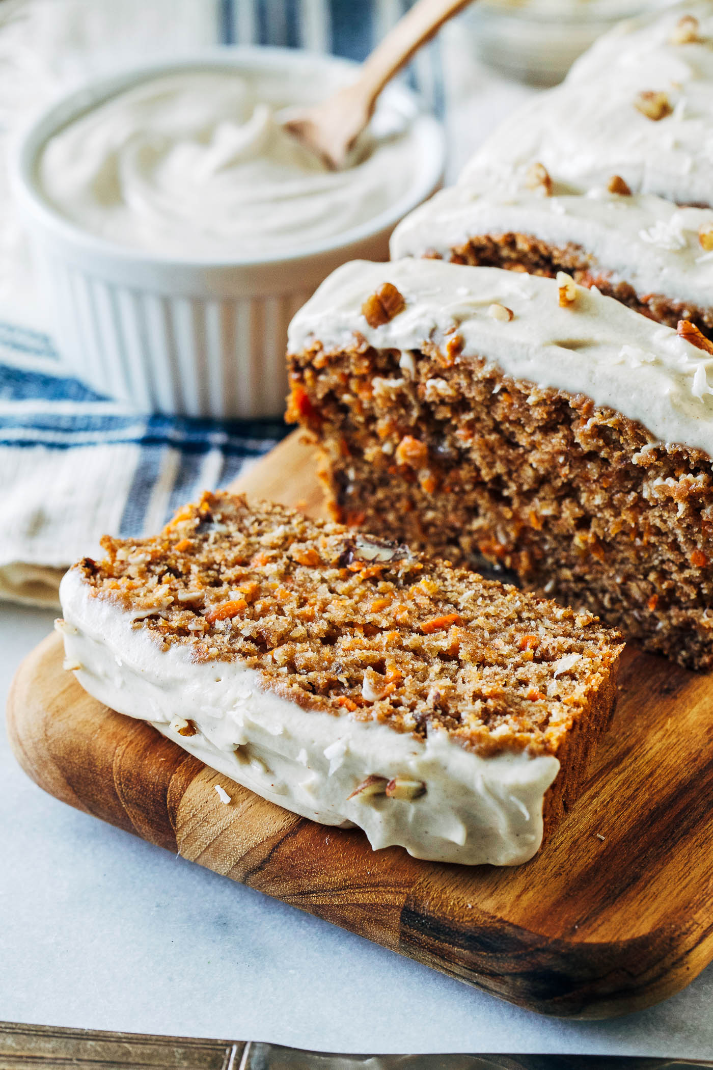 Vegan Banana Carrot Bread with Cashew Cream Cheese Icing   Making     Vegan Banana Carrot Bread with Cashew Cream Cheese Icing  banana replaces  egg in this recipe for a lighter take on carrot cake with irresistible  flavor