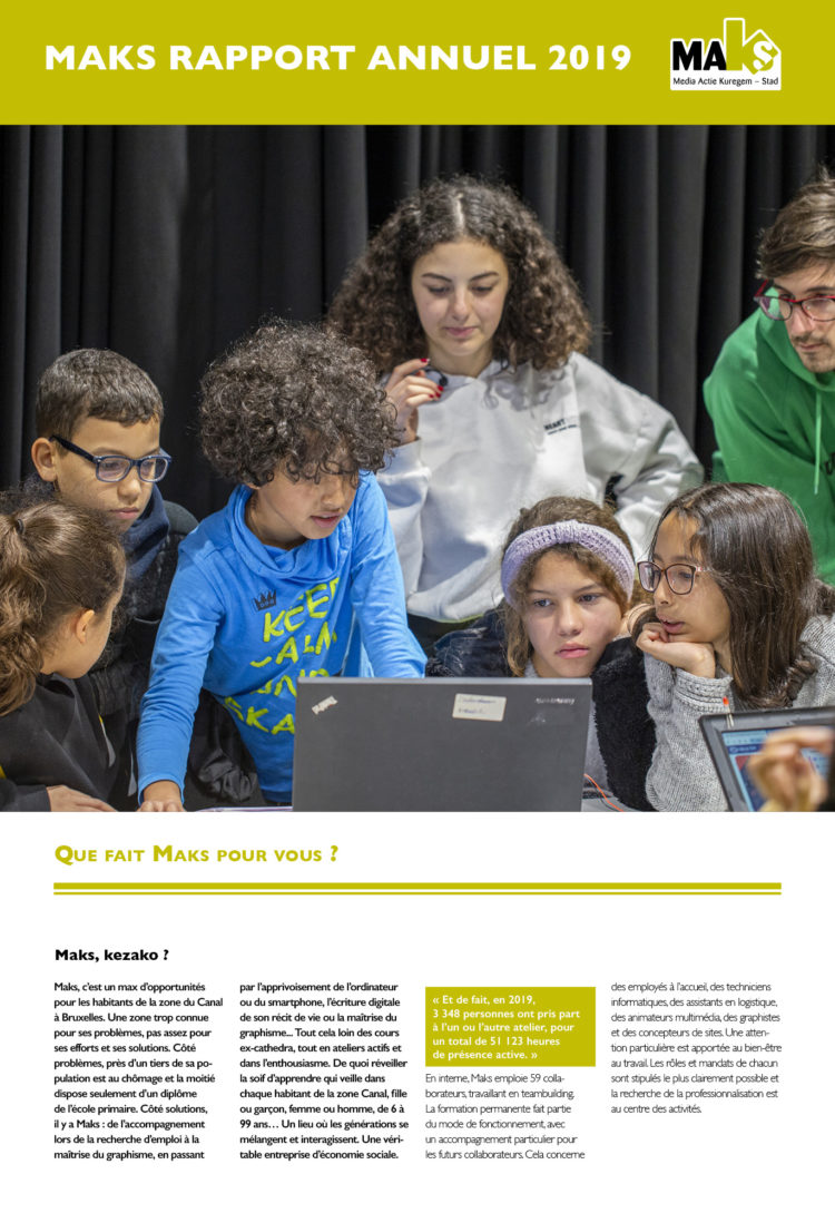 Maks rapport annuel 2019 Fr-cover