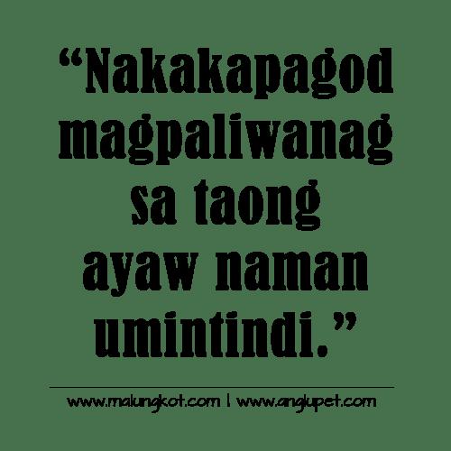 Tagalog Lines Hugot Kaibigan Patama Sa