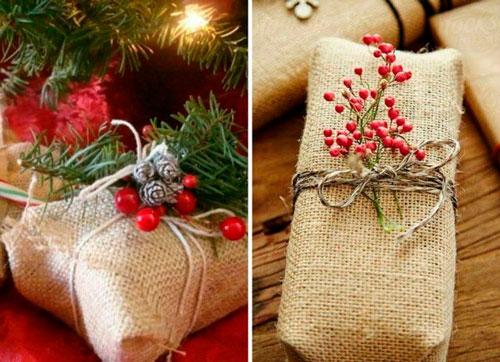 Enkel og smuk gaveemballage med dine egne hænder til det nye år 5