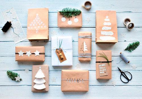 Enkel og smuk gaveemballage med dine egne hænder