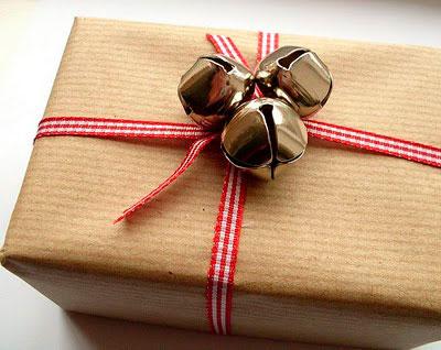 Emballage med gave gaver til det nye år