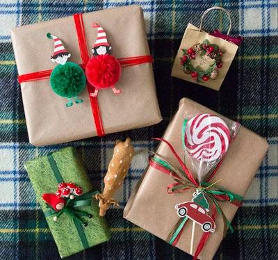 Smuk gaveemballage med egne hænder til det nye år 5