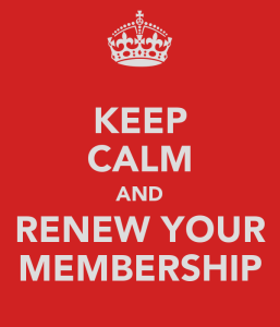 Keep Calm and Renew Your Membership Image