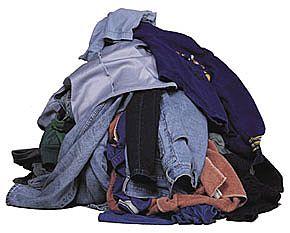 piles of clothes | Mango Mustache