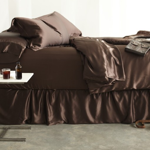 Silk Sheet Sets   Simply the Best 100  Pure Mulberry Silk Sheet Sets Champagne  Charcoal  Chocolate