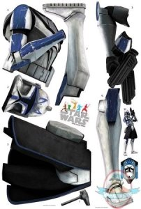 Star Wars Clone Trooper Peel   Stick Wall Decals by Roommates   Man     Bring the Clone Wars to your room with this giant wall decal of Clone  Captain Rex        He measures almost five feet tall when assembled