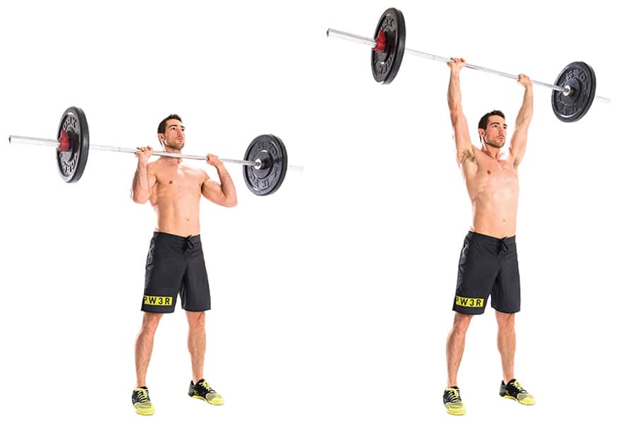 barbell military press exercise - 900×600