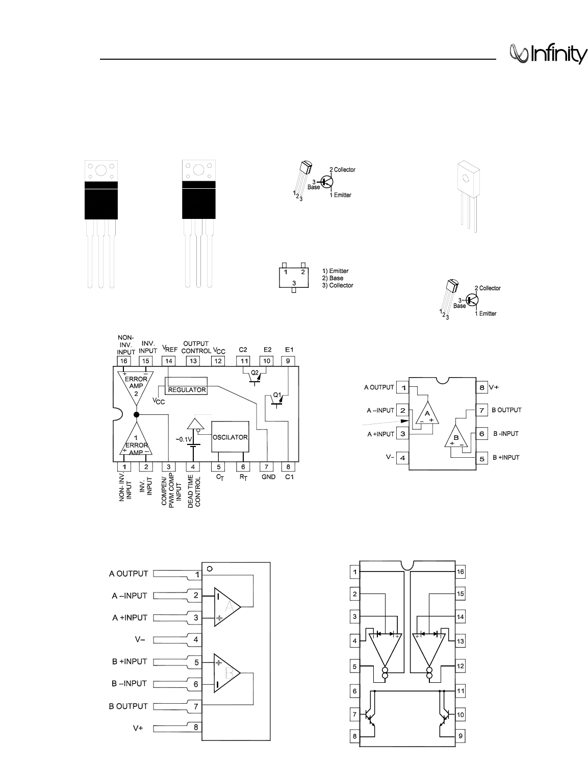 Infinity bass link integrated circuit diagrams