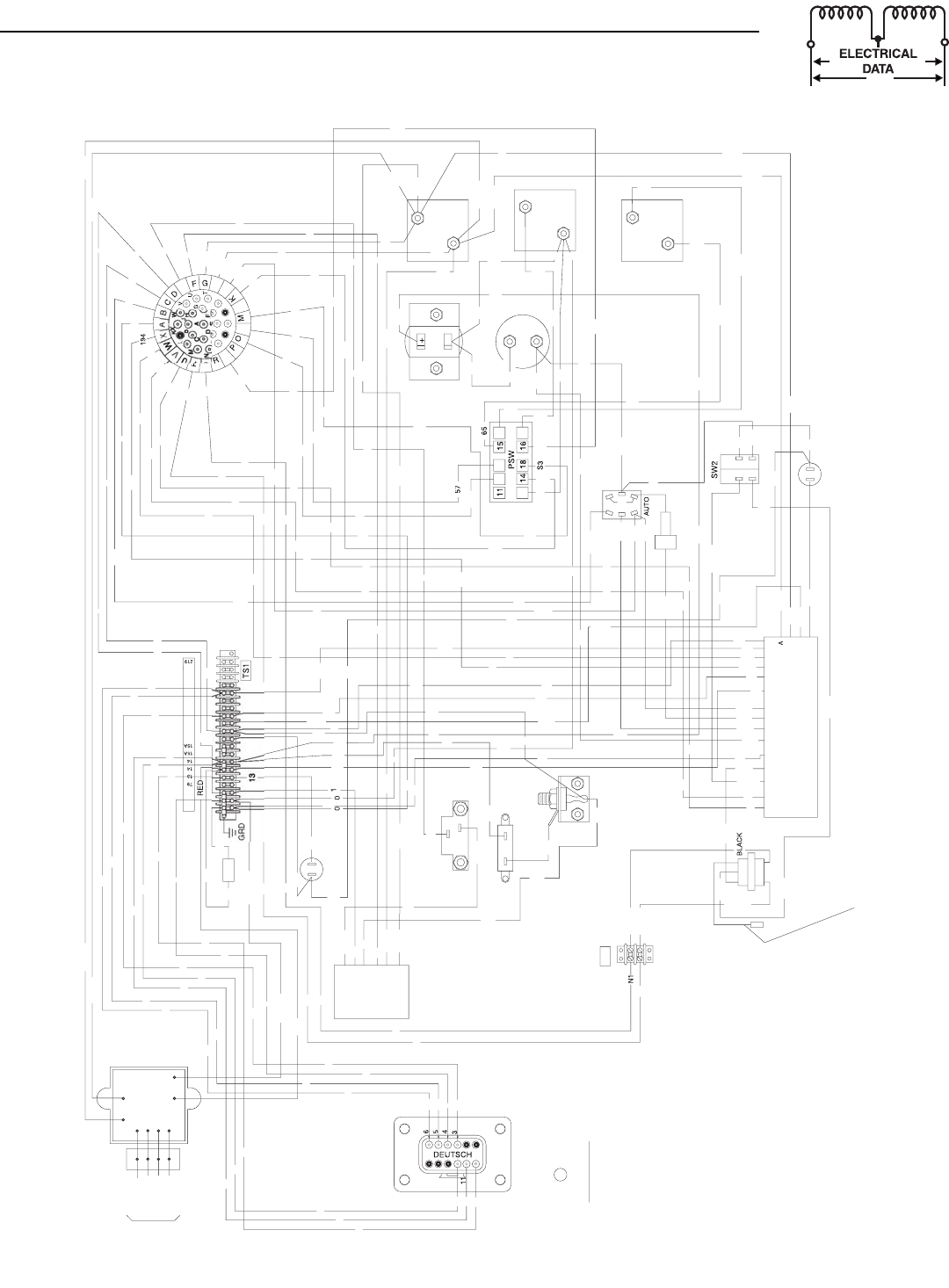 Generac power systems 0043733 0043734 0043735 0046262 0046263 0046264 wiring diagram pre pack panel 4 3l drawing no 0d4992 a