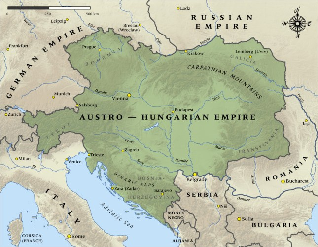 Austro-Hungarian Empire, 1914 | Map Collection