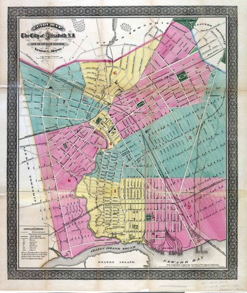 Historical Union County  New Jersey Maps