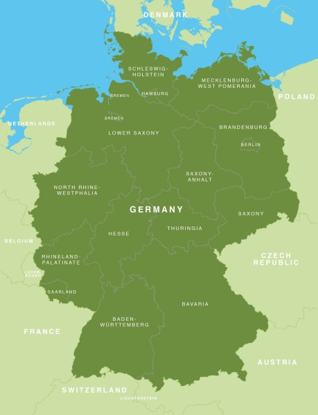 Map of Germany   German states   Bundesl    nder   Maproom preview preview preview preview