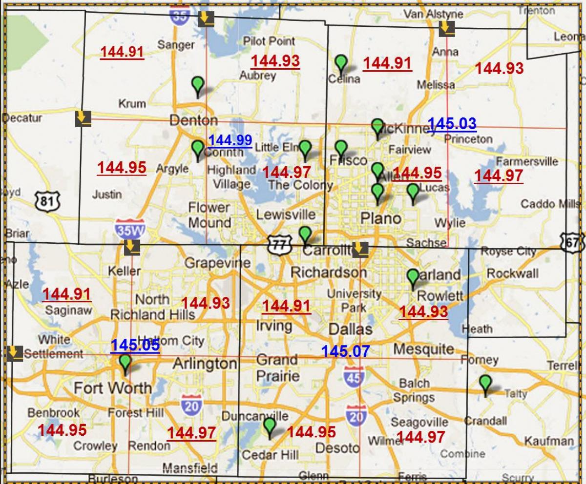 Map Tx Area Dallas Code