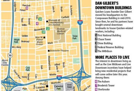 detroit downtown map » Full HD MAPS Locations - Another World ...
