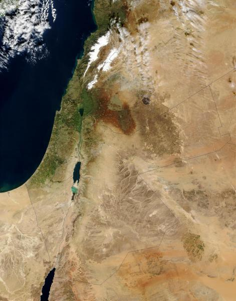 Israel satellite map   Map of israel satellite  Western Asia   Asia  Israel satellite map