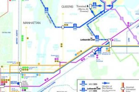 M60 Bus Map Nyc. M60 Bus Stops Map, M60 Route Map, Queens Bus Map ...