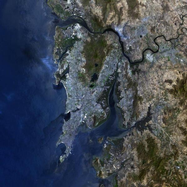 Mumbai satellite map   Satellite map of Mumbai  Maharashtra   India  satellite map of Mumbai