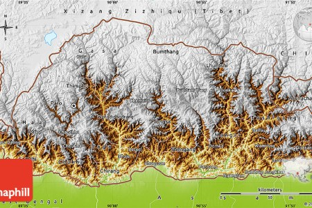 physical of bhutan map » Another Maps [Get Maps on HD] | Full HD ...