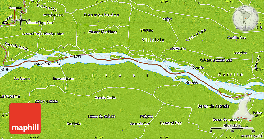Map Paraguay River Parana And