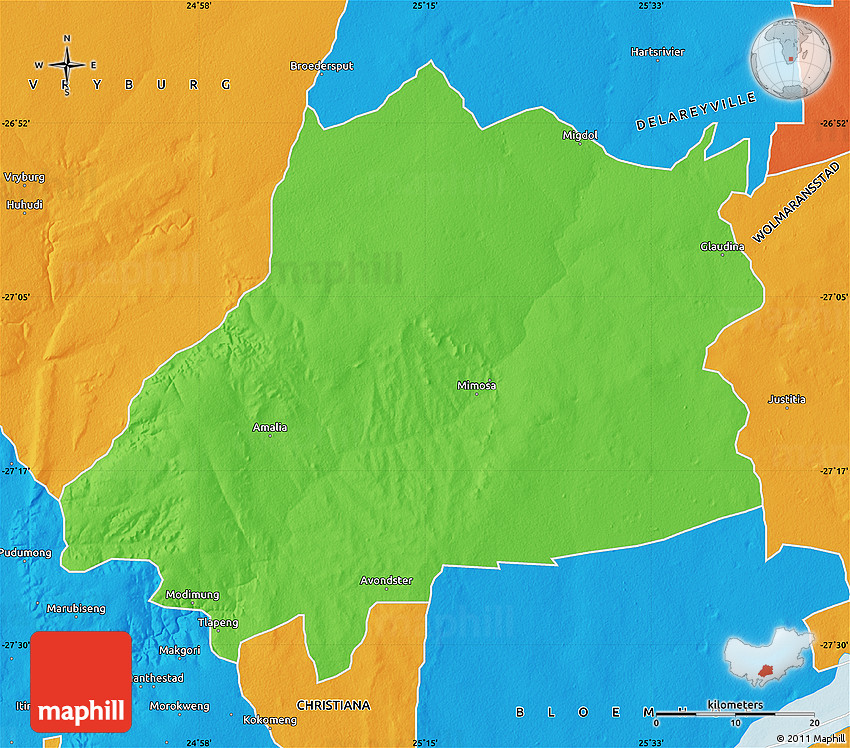 West North West Map Africa South And
