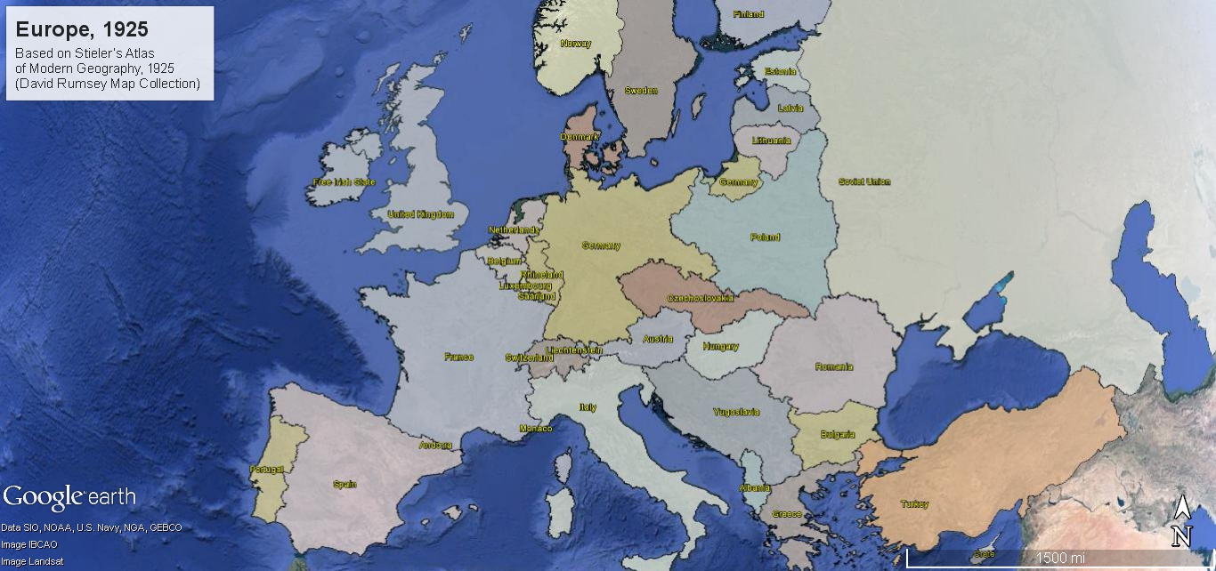 Europe  1925   Maps for Education