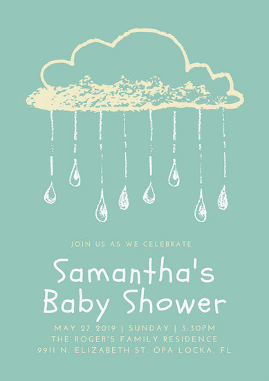 Yellow And Green Baby Shower Invitations