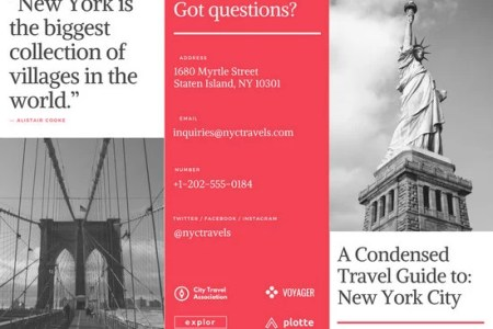 Customize 930  Brochure templates online   Canva New York Travel Brochure