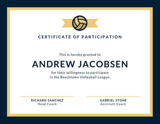 Customize 52 Sport Certificate Templates Online Canva