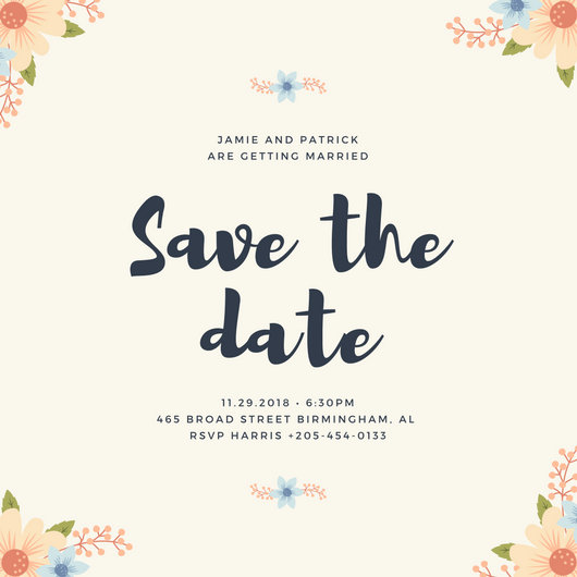 Save Date Cards Information Include