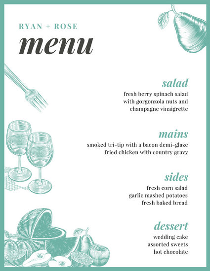 Thanksgiving Dinner Menu Planner