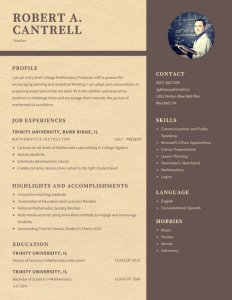 Beige and Brown Classic Teacher Resume   Templates by Canva Beige and Brown Classic Teacher Resume