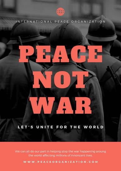 Customize 50 Anti War Poster Templates Online Canva