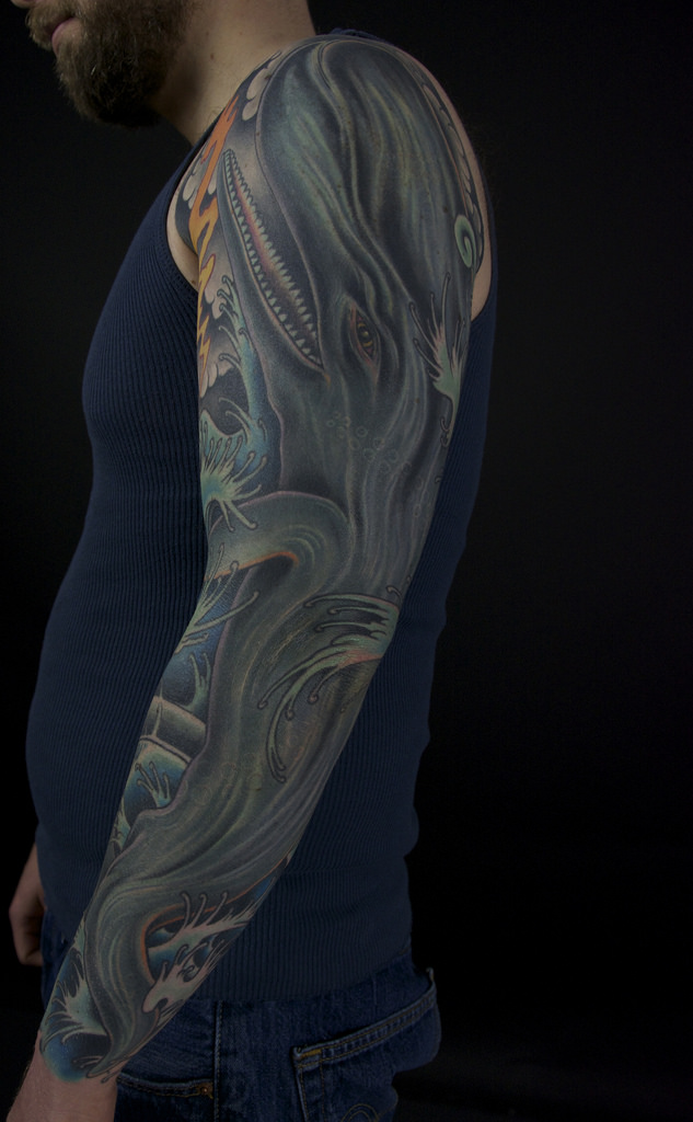 Whale Sleeve Mark Thompson Tattoo