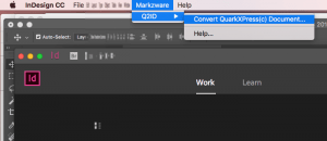 Quark Express to Indesign CS 6 Conversion Q2ID Markzware for