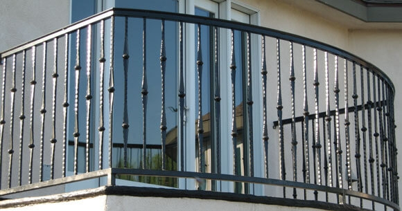 Balcony Stair Railings Decorative Wrought Iron Orange County | Mission Style Hand Railings | Indoor | Bungalow | Front Porch | Art Craft | Hand