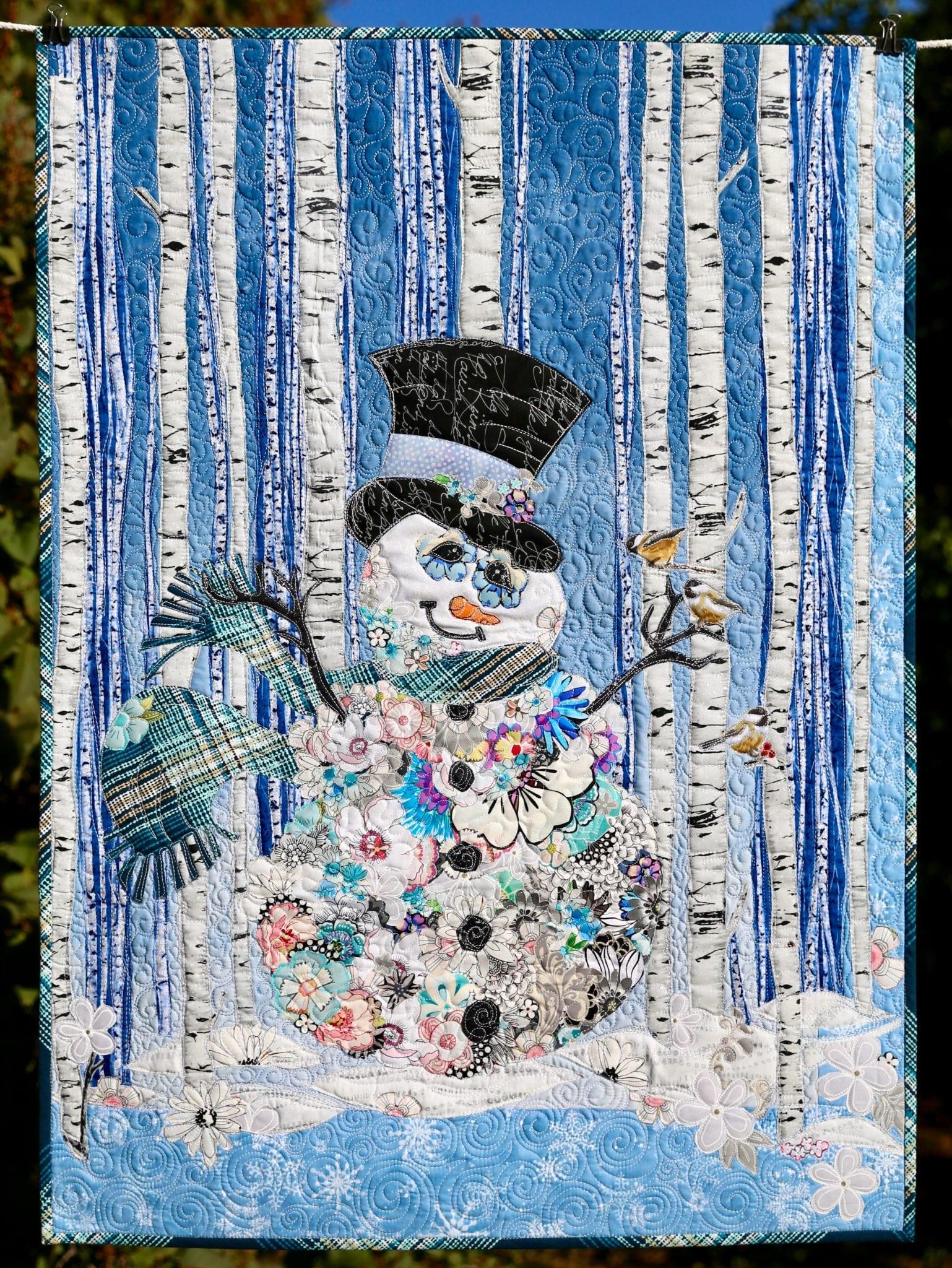 Sir Frosty Snowman Collage Paper Pattern Marveles Art