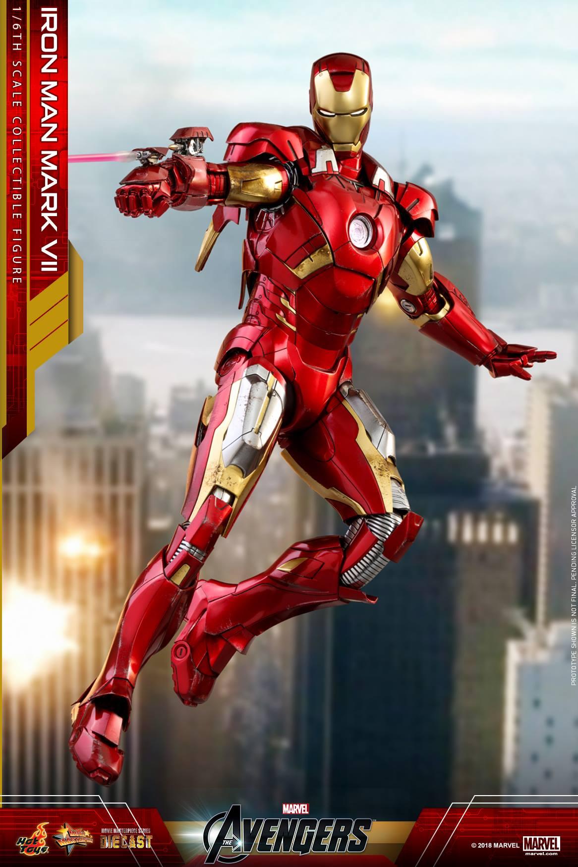 Hot Toys Iron Man Mark VII Die-Cast 1/6 Figure Photos ...