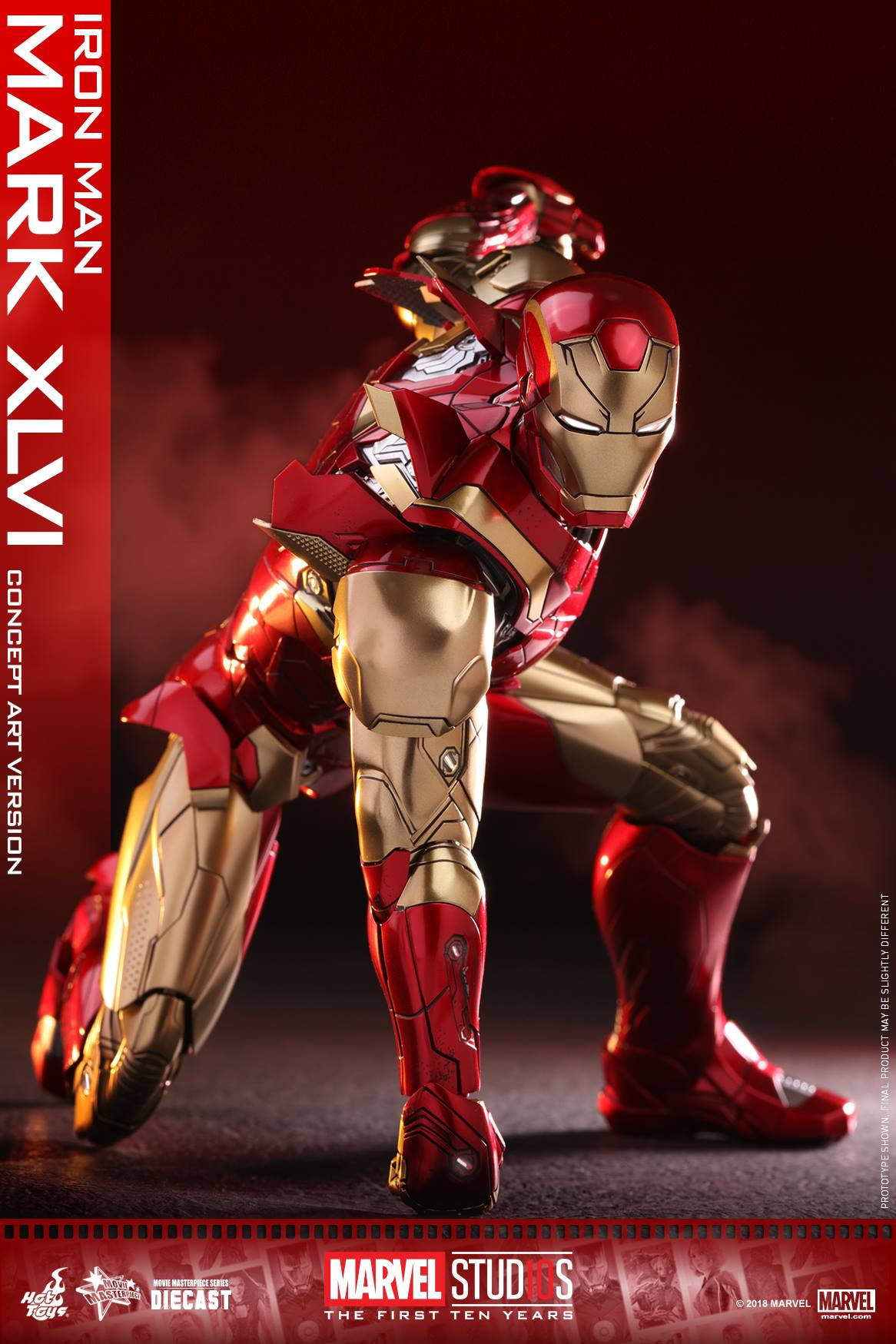 EXCLUSIVE Hot Toys Concept Art Iron Man Mark 46 Die-Cast ...