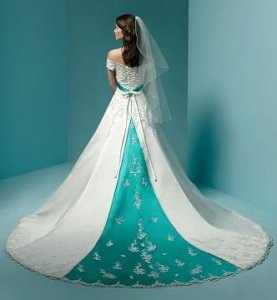 Wedding Gowns with Color Accents   Mass Luxury Wedding wedding gowns with color accents