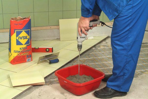 Carreau de colle ciment