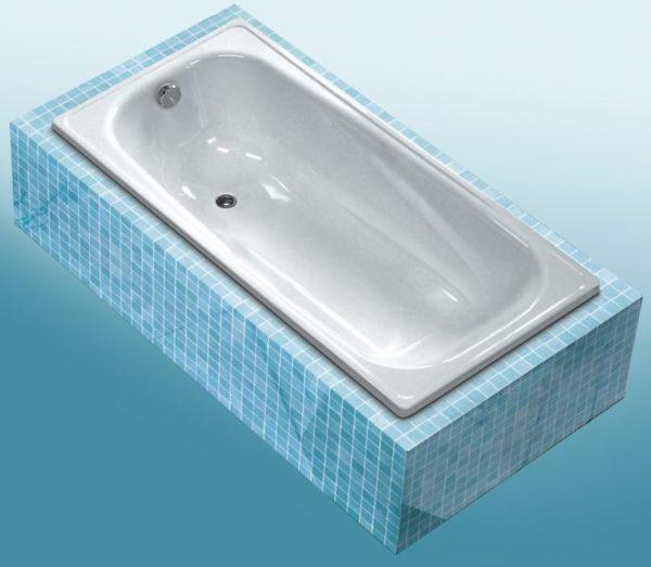 Болат ваннаға арналған ақ толқын классикасы
