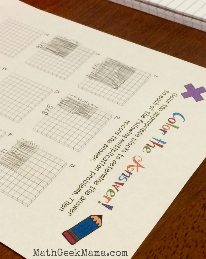 Fun Multiplication Worksheets that Build Conceptual Understanding Color the Multiplication2