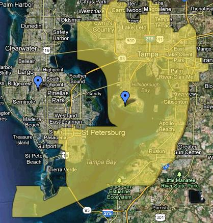 Florida s New Congressional Map      mattsmaps These are just some of the highlighted problem districts  Look back and the  first two  the 5th and the 20th  The Republicans claim they are protected  by the