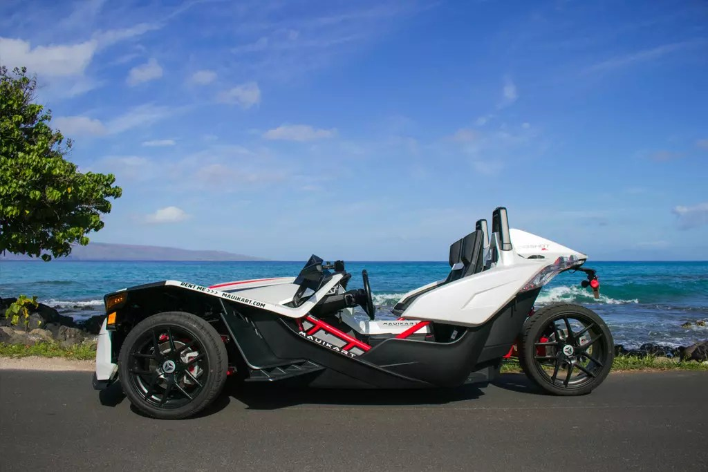 slingshot rentals, maui kart, polaris adventures, slinghsot hawaii, scooter rentals, moped rentals, maui rentals, makena beach
